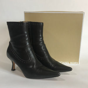Michael Kors Brown Leather Ankle Boot w/Detail